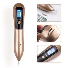 Bolígrafo de Plasma láser de 9 niveles, eliminador de manchas, pantalla LCD, eliminación de verrugas, cuidado de belleza