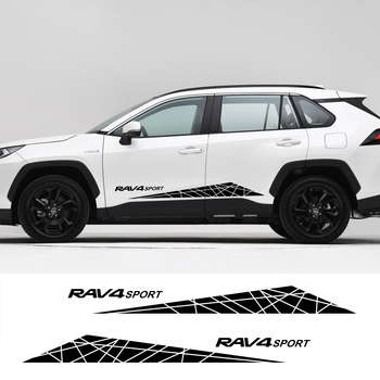 2Pcs Car Side Door Stickers Free shipping For Toyota RAV4 Auto Vinyl Film Decals DIY Styling Automobile Car Tuning Accessories 1
