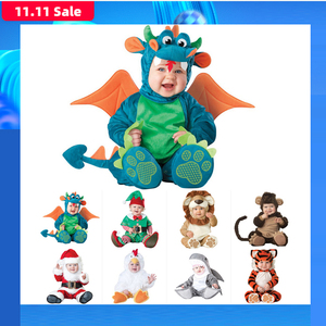 Image 1 - 2019 ใหม่เด็กทารก Rompers ฤดูหนาวสัตว์โจรสลัดไดโนเสาร์เพนกวินซานตาคลอสกวางเด็กวัยหัดเดินคริสต์มาส Carnival ฮาโลวีนเครื่องแต่งกาย Elf