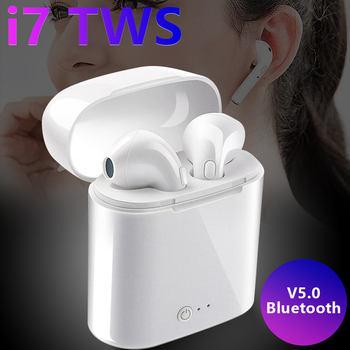 Bluetooth Earphone 5.0 for Smart Phone Mini Wireless Earbuds with Mic Charging Box Sport Headset for Xiaomi Ipad Samsung Tablet