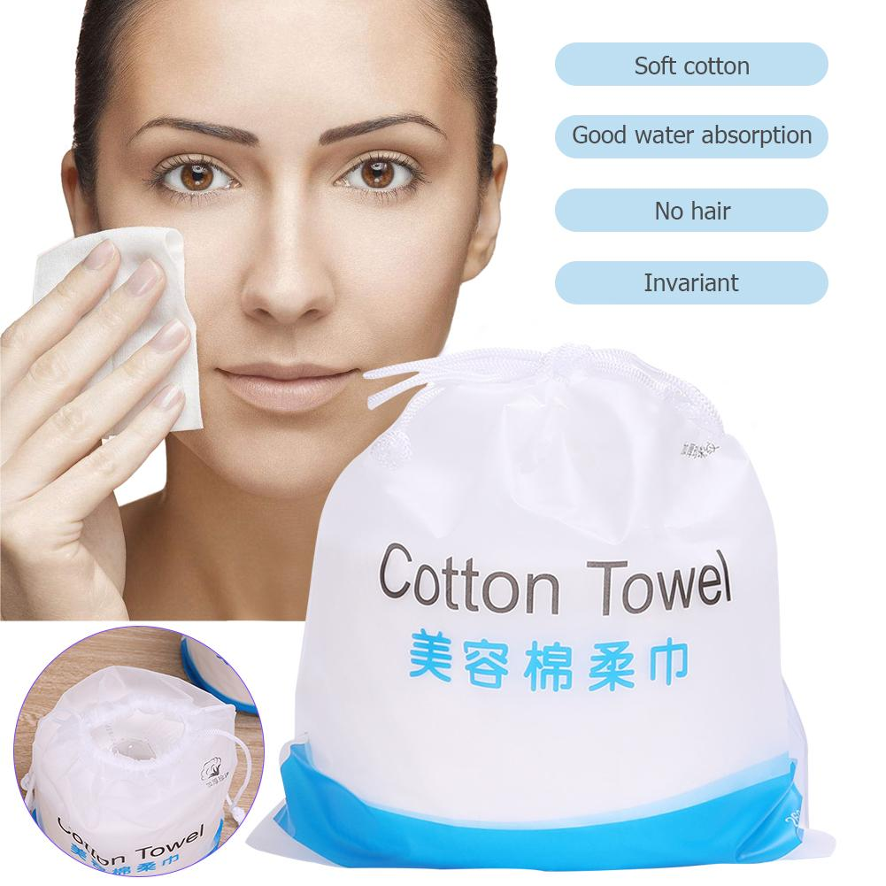 80pcs Cleaning Cosmetic Cotton Facial Towel Disposable Wash Dry Wet Tissue Travel Portable Make Up Wipe Skin Care Tools