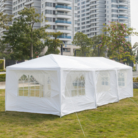 3X9 متر ثمانية الجانبين بابين خيمة مقاومة للماء مع أنابيب دوامة نزهة التخييم في الهواء الطلق لوازم
