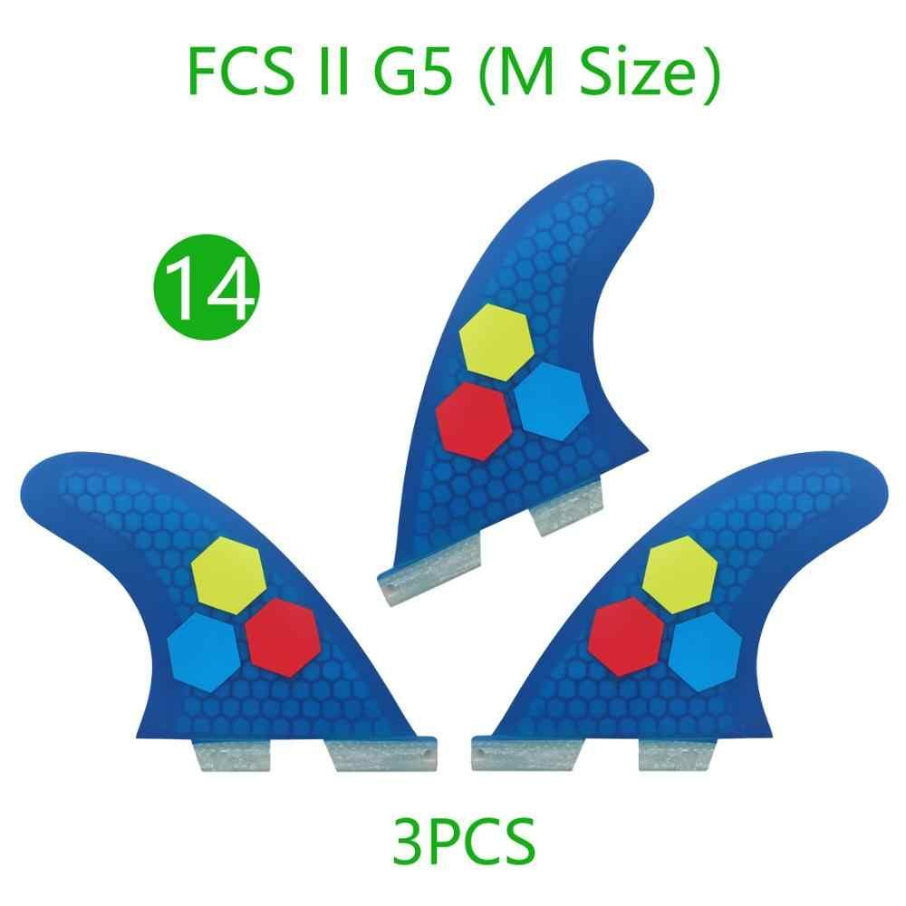 الألياف الزجاجية FCS2 G5 العسل لوح التزلج/تصفح الزعانف 3 قطعة/المجموعة thruster