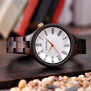 Image 3 - BOBO BIRD nouveau luxe dames bois montres conception spéciale à la main en bois montre bracelet pour les femmes relogio feminino livraison directe