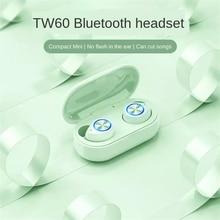 Noise Reduction TW60 9D Stereo Sports Waterproof Earbuds Bluetooth Headset TWS Wireless Sports Mini Game In-Ear Wireless Headset