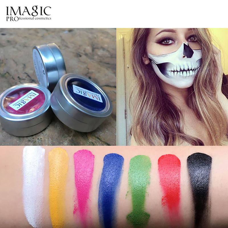IMAGIC Face Painting Flash Tattoo Face Body Paint Oil Painting Art Halloween Party Fancy Dress Beauty Makeup Face Paint Tools in Body Paint from Beauty Health