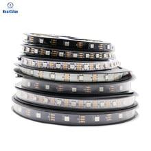 Ws2812b LED Strip RGB Individually Addressable Black/White PCB Waterproof 30/65/67 5V 1-5m Ws2812B ECO Luces Navidad LED Lights