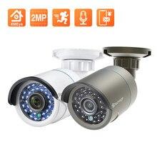 Techage Cámara IP 1080P POE 2.0MP Cámara de seguridad para exteriores impermeable P2P Soporte de videovigilancia Onvif H.265 Sistema CCTV