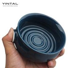 Cuenco de cerámica para crema de afeitar, taza de crema de afeitar húmeda, cuenco de jabón