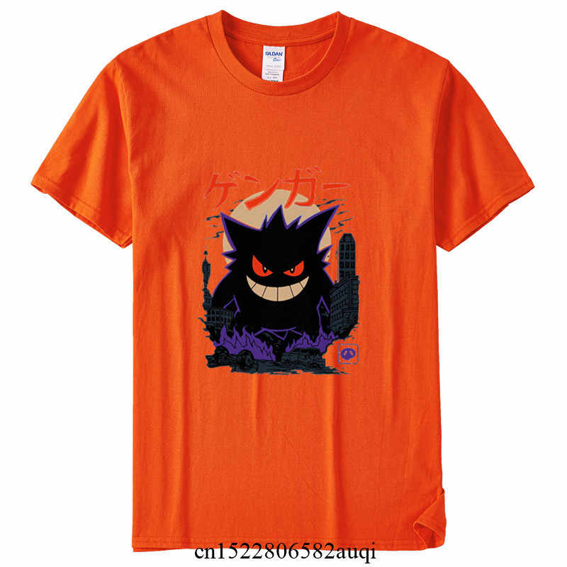 男性と女性gengar怪獣日本スタイル原宿tシャツ少年少女アニメ美的ゴシック服、ドロップ船