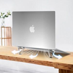 Image 4 - ขาตั้งแล็ปท็อปโลหะน้ำหนักเบาสนับสนุนโน้ตบุ๊คแล็ปท็อปผู้ถือ Cooling Bracket สำหรับ MacBook Pro Air DELL HP