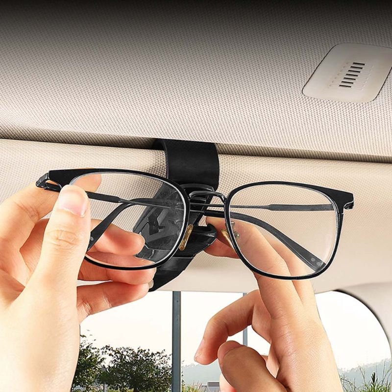Car Sun Visor Sunglasses Clip Holder Universal Ticket Card Clamp Fastener Clip Car Glasses Cases Portable in Auto Fastener Clip from Automobiles Motorcycles
