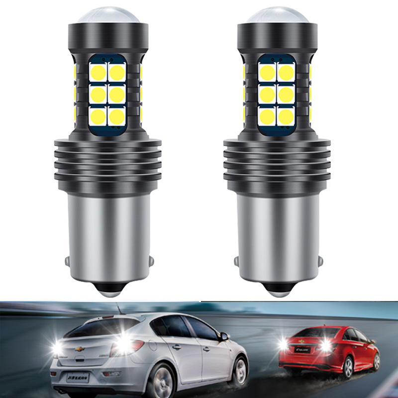 2PCS 1156 BA15S <font><b>LED</b></font> CANBUS Reverse <font><b>Light</b></font> Backup Lamp For <font><b>VW</b></font> Polo Golf 4 5 7 6 3 Beetle <font><b>Passat</b></font> <font><b>B5</b></font> B6 B7 T5 Touran Bora T4 Touareg image