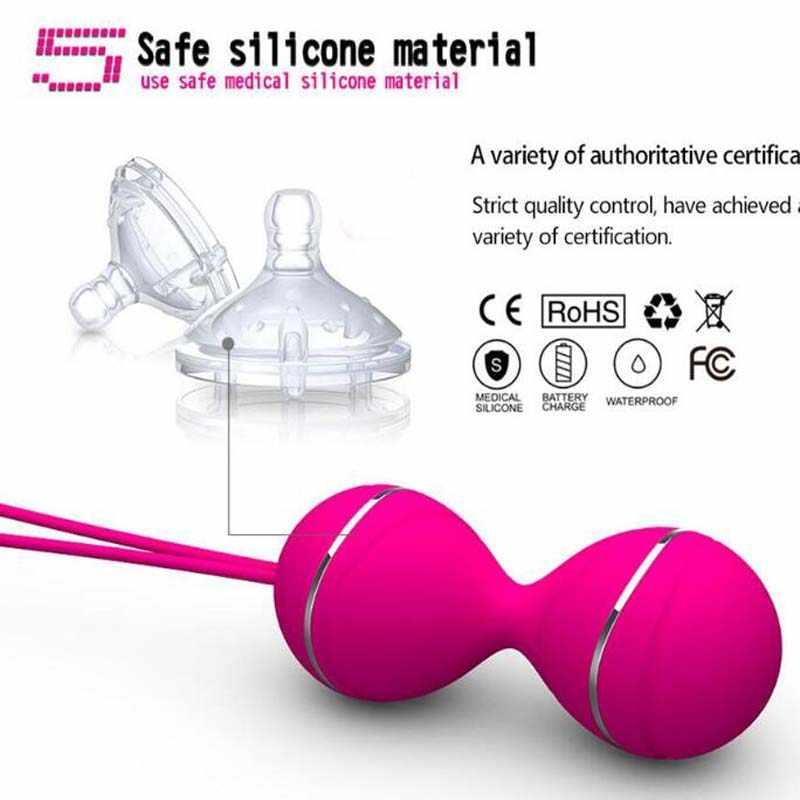 Vibrador con bolas de Control remoto, bolas de Kegel para mujeres, bolas vibratorias chinas vaginales, juguete sexual Vaginal para apretar para mujeres
