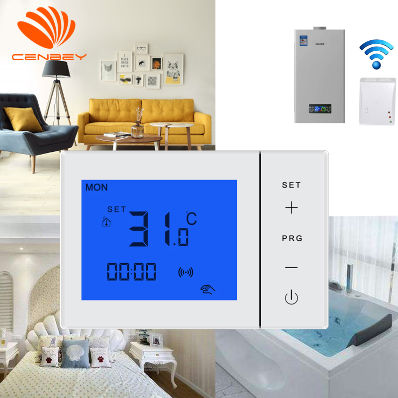 Digital Wireless Thermostat Underfloor Heating Thermostats Central Heating Battery Programmable Room Thermostat Boiler 16A 230V