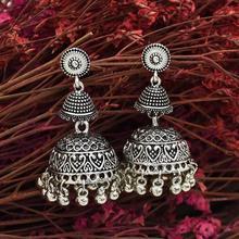 Plata Metal indio Jhumki Jhumka pendientes de gota moda Vintage Bohemia Tribal joyas estilo Bollywood partido afro indio oorbellen