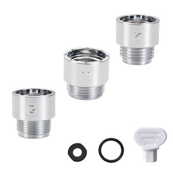 3 sztuk KMGShower adapter prysznic adapter adapter adapter prysznic prysznic złączka do węża prysznic zestaw tanie i dobre opinie A146