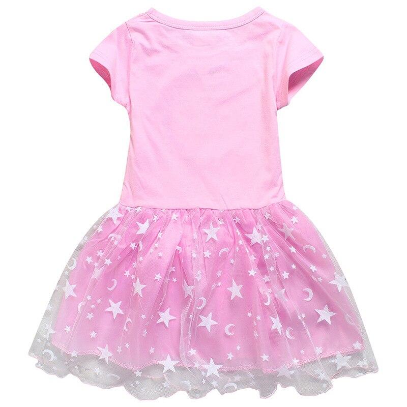 Toddler Kid Baby Girls Summer Casual Cotton Pink Tutu Dress Rabbit Party Dresses