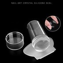 Unhas novo design puro claro geléia silicone arte do prego stamper raspador unhas transparentes gel unha polonês carimbo ferramenta de maquiagem