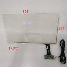 """17.3 """"بالسعة اللمس G + G هيكل 398X238mmUSB العالمي 10 نقطة اللمس 16:9 شاشة LCD ل LC 173"""