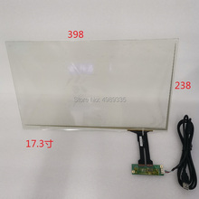 """17.3"""" capacitive touch G + G structure 398X238mmUSB universal 10 point touch 16:9 LCD screen for LC 173"""