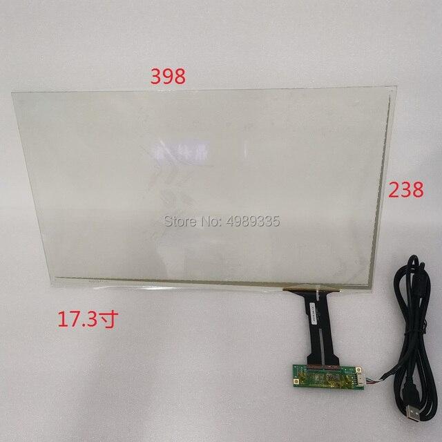 Pantalla táctil capacitiva de 17,3 pulgadas, estructura G + G, 398X238mmUSB, universal, punto de contacto, 16:9, para LC 173