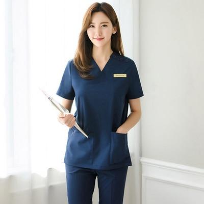 Hand-washing clothes short-sleeved cosmetic surgery hospital surgical suit split suit beauty salon nurses wear men and women