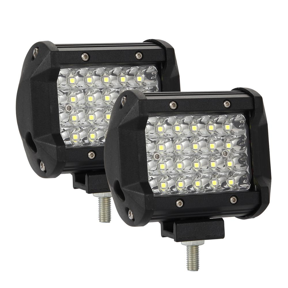 2 Pcs/set 4 Inch Car LED Driving Work Lights 200W 6000K Flood Spot Combo Lights Off Road Lamp Car Truck Lighting Headlight