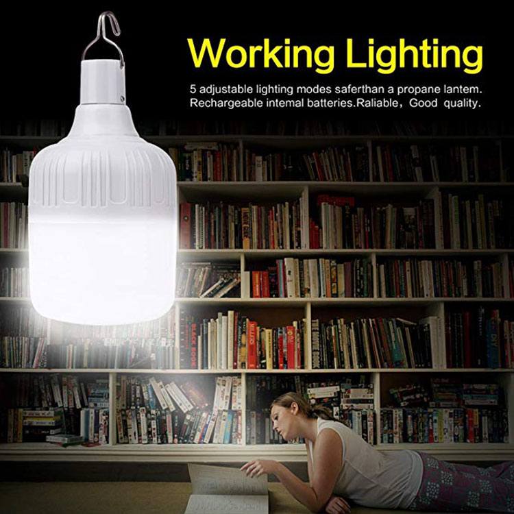 Portable LED Hanging Night Light 20W/40W LED Bulb Rechargeable 5 Mode Emergency Lights Outdoor Garden Camping Tent Light !