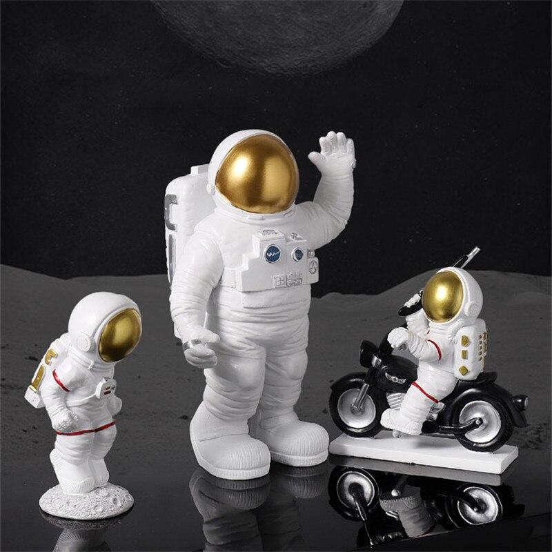escultura decoração estatuetas spaceman estátua resina artesanato