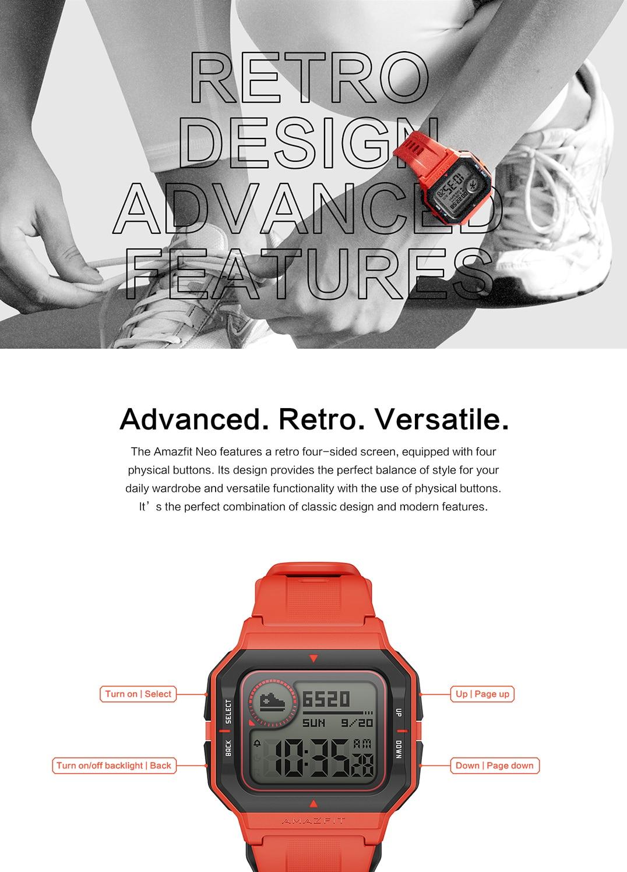 Amazfit Neo, el nuevo smartwatch retro del socio de Xiaomi a la venta por 35€