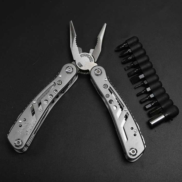 Knife Clamp All-Steel Knife Folding Outdoor Portable Combination Emergency Tool Clamp Stainless Steel Folding Multi-function Pli