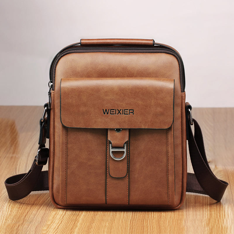 Men Bags Shoulder Crossbody Leather Shoulder Bags High Quality Messenger Bag Male Bolsas Men Business Tote Handbag Black