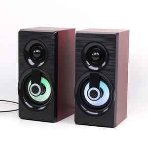 Image 1 - Music Speakers USB Wired Mini Computer Speakers Bass Stereo Wooden PC  Home Speaker 3.5mm AUX For Laptop Desktop Smart Phones