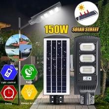 60/90/150W LED Wall Lamp IP65 Solar Street Light Radar motion 2 In 1 Constantly bright& Induction Solar Sensor Remote Control