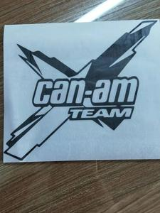 Image 4 - 18*16.1cm Can am team car sticker nuovo stile Hot Body accessori per auto grafica Cool adesivo in vinile Car Decor
