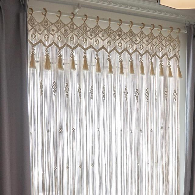 diy macrame handmade knitted curtain