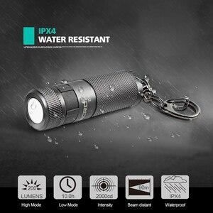 Image 2 - NICRON Mini LED Zaklamp B10 Waterdichte IP4X USB Oplaadbare Li Ion Batterij Sleutelhanger Zaklamp Voor Buitenverlichting