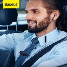 Baseus auriculares inalámbricos con Bluetooth, dispositivo manos libres con micrófono, para iPhone y Android
