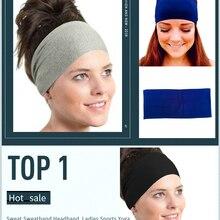 Горячая Распродажа, Спортивная хлопковая повязка от пота на голову, женский спортивный Напульсник для йоги, гимнастики, эластичная повязка на голову, повязка на голову