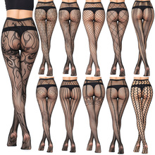New Arrival Thin Women Pantyhose Sexy Hollow Solid Fishnet Tights Clothes For Wo