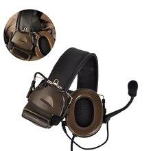 купить 2019 Z-tac Element Comtac 2/II Peltor Softair active Headphones No Noise Reduction Function Airsoft Tactical Hunting PTT Headset по цене 2312.81 рублей