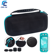 Travel Mini Hard Eva Bag for Nintend Switch Lite Portable Carry NS Glass Protector Silicone Case