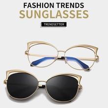 2019 New Luxury Italy Brand Designer Lady Cat Eye Sunglasses Women Vintage Rimless Gradient Sun Glasses For Female UV400
