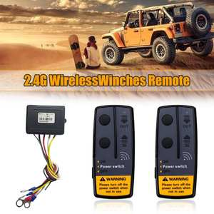 1 Set 2.4G 12V 50M Digital Wireless Winches Remote Control Recovery Kit For Jeep SUV