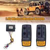 1 2,4G 12V 50M inalámbrico Digital tornos de Control remoto Kit DE RECUPERACIÓN DE para Jeep SUV 120W 100ft