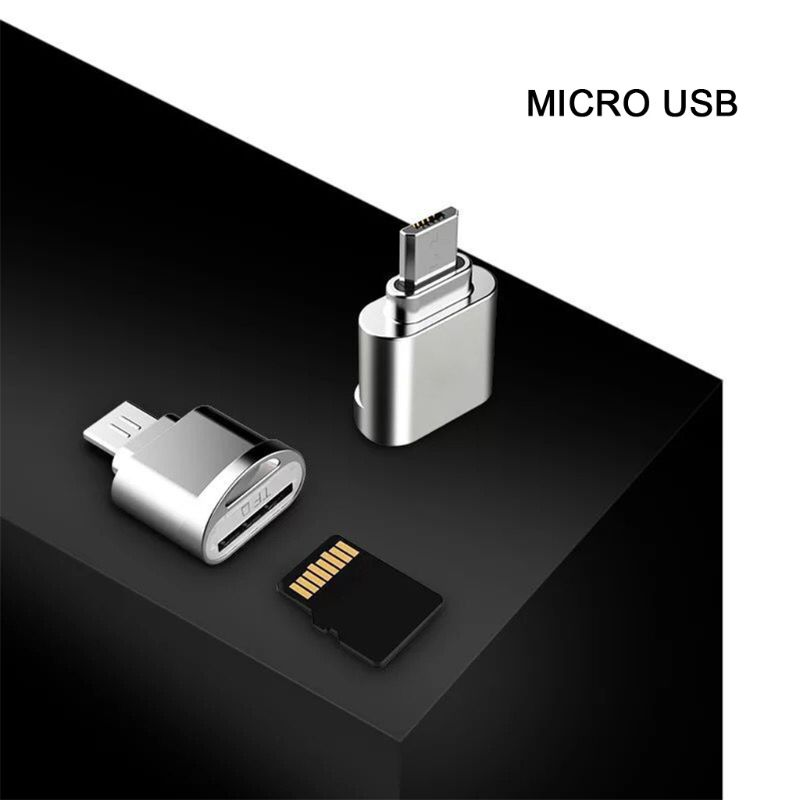 1pc Micro USB OTG TF Micro SD Card Reader Adapter For Samsung Xiaomi Huawei HTC Android Smart Phone Tablet