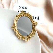 Nuevo estilo Vintage europeo estilo americano avanzada elegante espejo de broche de Metal para Mujer Accesorios