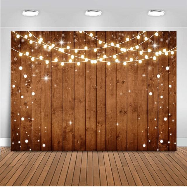 Wedding backdrop for photography bridal shower background for photo studio wooden floor glitter light Photocall Boda Background
