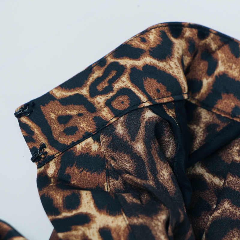 2020 Nuove Donne di Modo Del Leopardo Lungo Mantello Del Collare Del Basamento trench e Impermeabili Abito Cappotto Mantelle Donna Loose Fit Maxi Lungo Poncho Avvolge tuta sportiva
